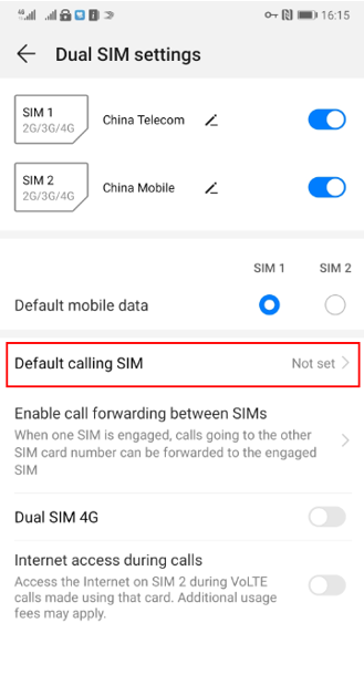 I can't make calls via Android Auto when two SIM cards are ...